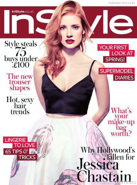Джессика Честейн в журнале InStyle. UK. Февраль 2013