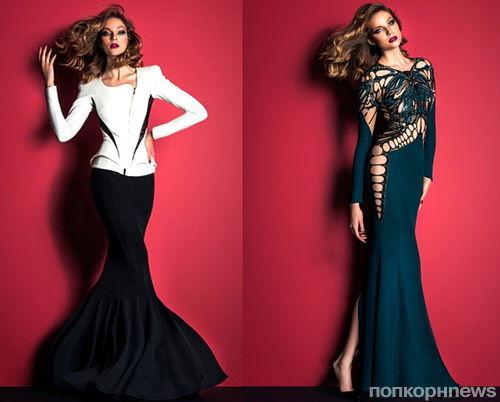 Маша Воронина в рекламной кампании Zuhair Murad. Осень / Зима 2014