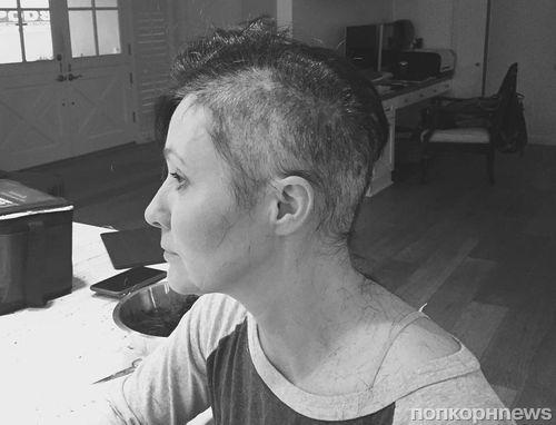 Больная раком Шэннен Доэрти лишилась волос