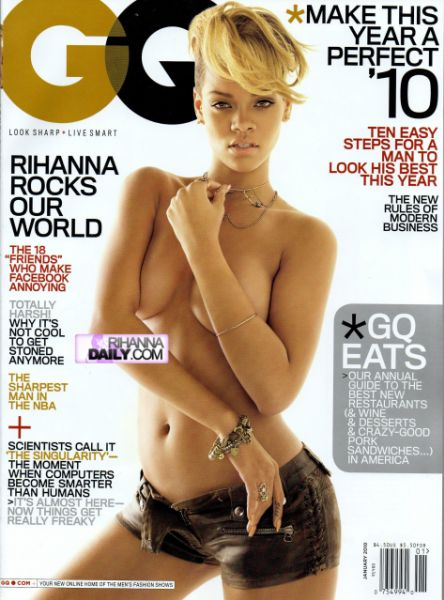 Рианна в журнале GQ. Январь 2010