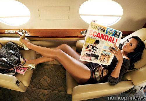 Керри Вашингтон в журналах Glamour и Flare. Октябрь 2013
