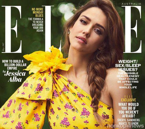 Джессика Альба в фотосессии для Elle, май 2017