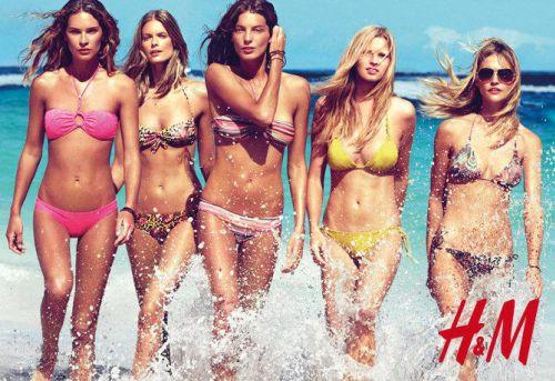 Рекламная кампания купальников H&M 2010