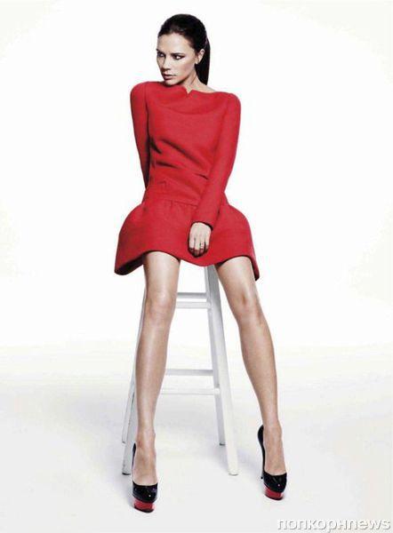 Виктория Бэкхем в журнале Elle. Январь 2012