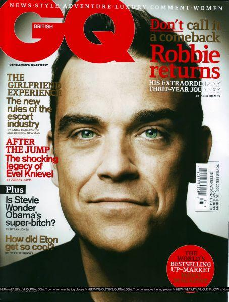 Робби Уильямс в журнале GQ. Ноябрь 2009
