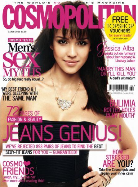 Джессика Альба в журнале Cosmopolitan UK. Март 2010