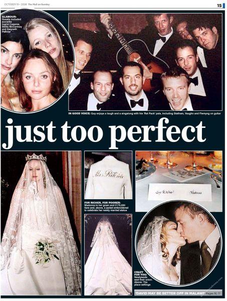 Свадебные фотографии Мадонны и Гая Ричи