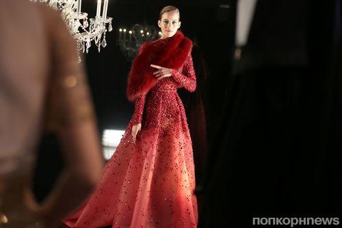 Модный показ новой коллекции  Elie Saab Haute Couture. Осень / зима 2014-2015