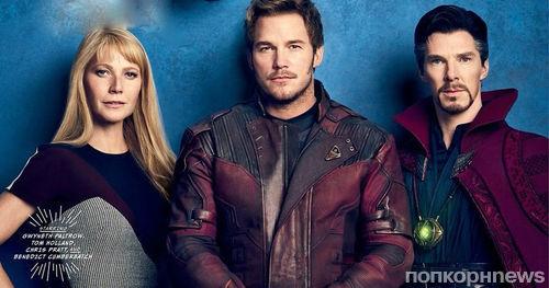 Звезды Marvel в фотосете для Vanity Fair в честь 10-летия киновселенной