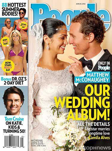 Молодожены Камилла Альвес и Мэттью МакКонахи на обложке журнала People
