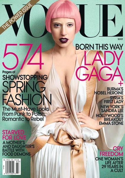 Lady Gaga в журнале Vogue. Март 2011