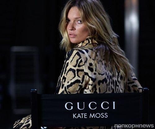 Кейт Мосс в рекламе сумки Jackie от Gucci