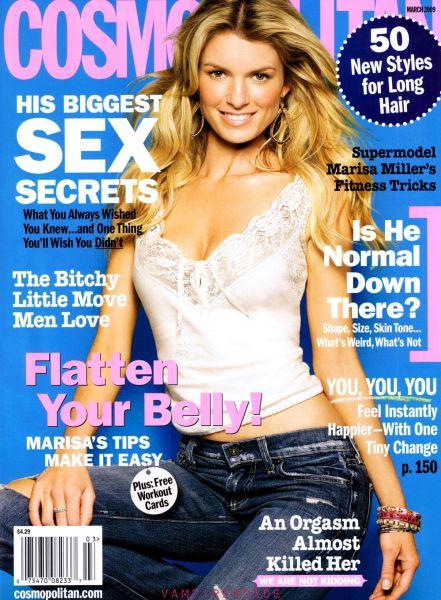 Мариса Миллер в журнале Cosmopolitan. Март 2009