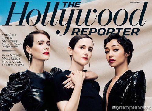 Сара Полсон и Рут Негга в фотосете для The Hollywood Reporter