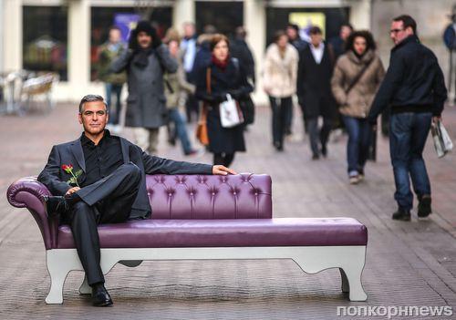 На улицах Лондона появился восковой Джордж Клуни