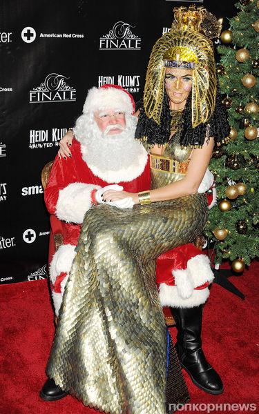 Хайди Клум на своей рождественской вечеринке