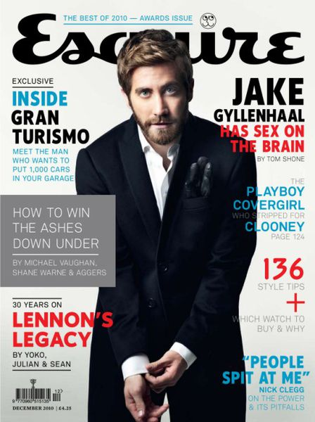 Джейк Джилленхол в журнале Esquire UK. Декабрь 2010