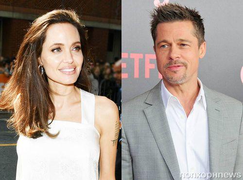 Анджелину Джоли и Брэда Питта впервые после объявления о разводе сфотографировали вместе