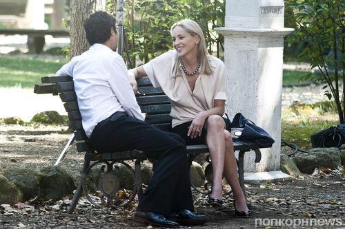 Шэрон Стоун на съемках нового фильма в Риме