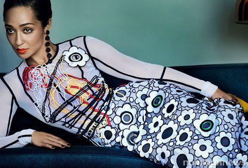 Рут Негга украсила обложку январского Vogue