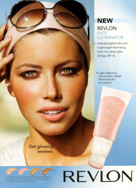 Джессика Бил в новой рекламе Revlon