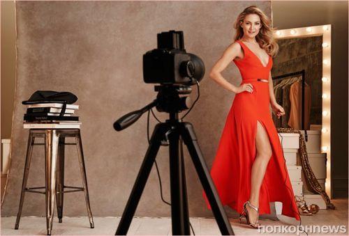 Кейт Хадсон в релкамной кампании вечерних нарядов для Lindex