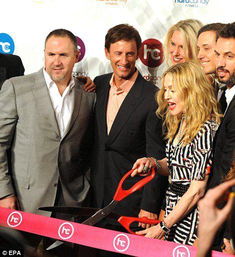 Мадонна на открытии своего первого фитнес-клуба
