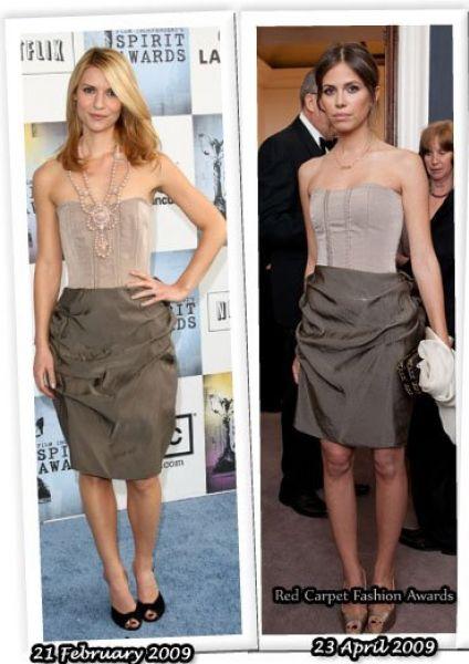 Fashion battle: Клэр Дэйнс и Дарья Жукова
