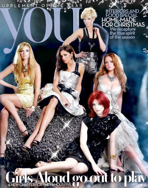 Группа Girls Aloud в журнале You. Декабрь 2008