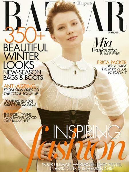 Миа Васиковска  в журнале Harper's Bazaar Australia. Август 2011