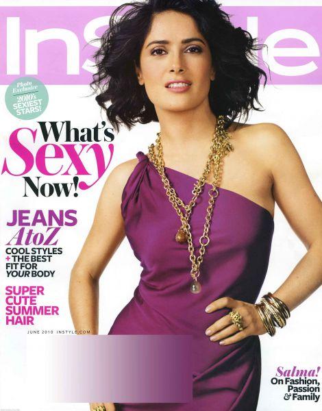 Сальма Хайек в журнале InStyle. Июнь 2010