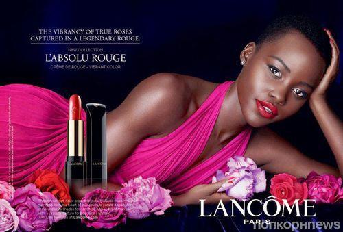 Люпита Нионго в рекламной кампании помады Lancome L'Absolu Rouge: первый взгляд