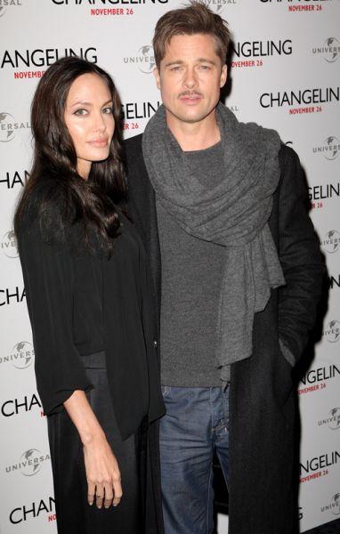 Анджелина Джоли и Брэд Питт в Лондоне