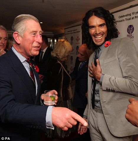 Рассел Брэнд был в ужасе от встречи с принцем Чарльзом