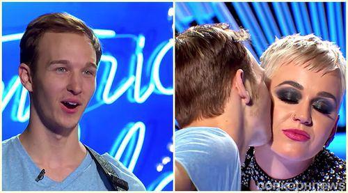 Кэти Перри подарила 19-летнему поклоннику его первый поцелуй (видео)