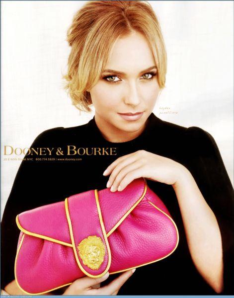 Хайден Панеттьери в рекламе Dooney & Burke Winter 2008 Ads