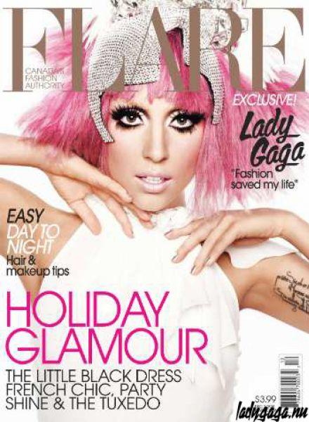 Lady Gaga в журнале Flare. Декабрь 2009