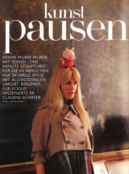Клаудия Шиффер в журнале Vogue Германия. Ноябрь 2009