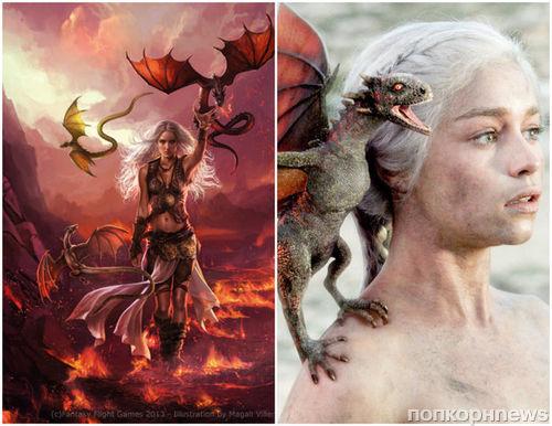 Фото: сравнение героев «Игры престолов» в сериале и книгах Джорджа Мартина