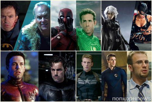 И вашим, и нашим: 10 актеров, снявшихся в фильмах по комиксам Marvel и DC Comics