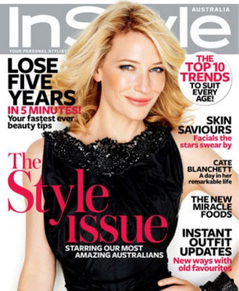 Кейт Бланшетт в журнале InStyle. Ноябрь 2009