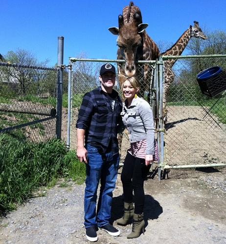 Хилари Дафф и Майк Камри в Питтсбургском зоопарке