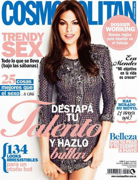 Ева Мендес в журнале Cosmopolitan Испания. Сентябрь 2011