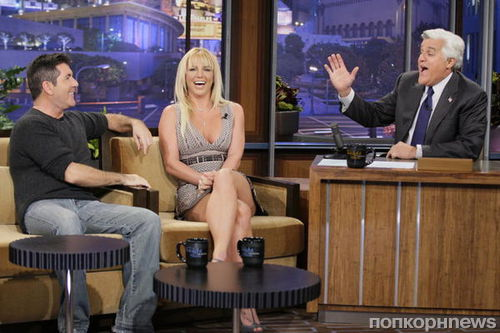 Бритни Спирс и Саймон Коуэлл на шоу Джея Лено