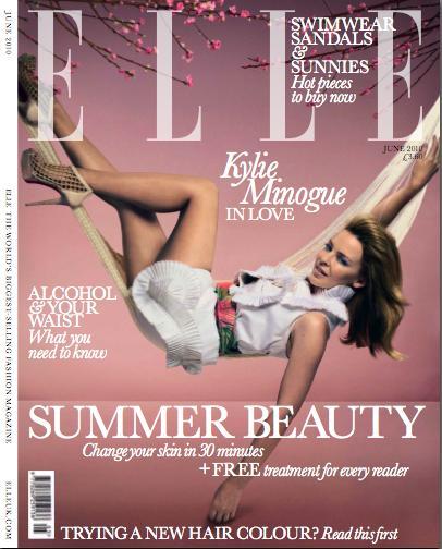 Кайли Миноуг в журнале Elle. Июнь 2010