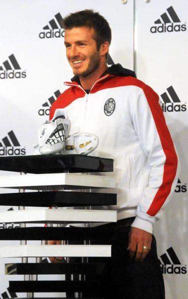 Дэвид Бэкхем на запуске новой коллекции от Adidas