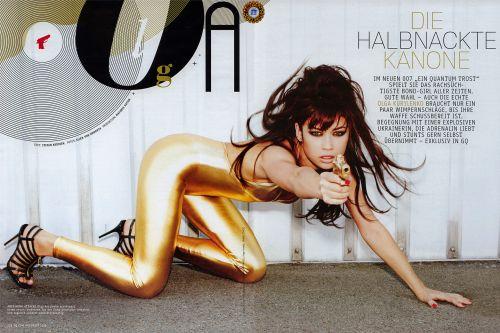 Ольга Куриленко в журнале GQ. Ноябрь 2008