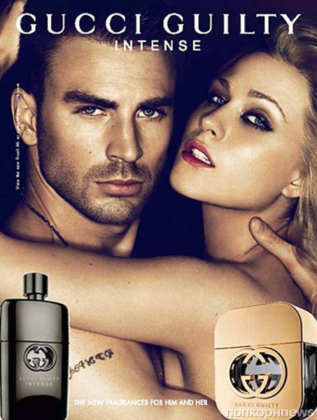 Эван Рэйчел Вуд и Крис Эванс в рекламной кампании нового аромата Gucci Guilty Intense