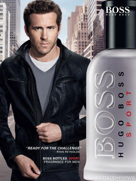 Райан Рейонльдс в рекламе аромата Hugo Boss Bottled Sport