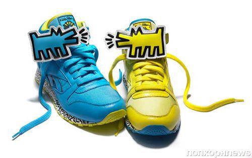 Яркие кроссовки Reebok от Кейта Харинга